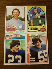 4 Card Lot Of New York Giants Players