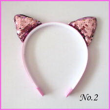 50 BLESSING Girl DIY Popular Flash Headband Cat Ear Crown Spangle Baby Wholesale