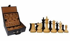 "Reproduction Jaques 1870-74 Staunton 4.4"" Ebony Chessmen with Presentation Box"