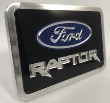 "Billet Aluminum Ford Raptor Logo Emblem Premium Tow Hitch Cover Plug 2"" 2.5"""