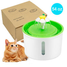 54oz Automatic Pet Water Fountain/Filter for Cats Dogs Drinking Water Dispenser