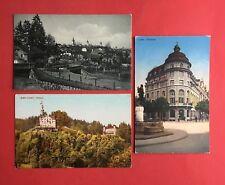 3 x AK LUZERN Schweiz um 1910 Stadtansicht, Chateau Gütsch, Volkshaus ( 44547