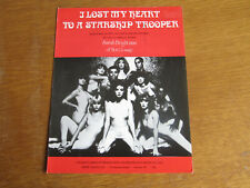 SARAH BRIGHTMAN HOT GOSSIP I LOST MY HEART TO A STARSHIP TROOPER SHEET MUSIC (I)