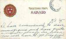 Harvard University College Greetings United States Vintage Topographical Views