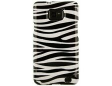 Zebra Skin Two Piece Plastic Snap On Phone Cover Case for Samsung Galaxy S II S2