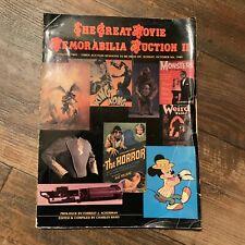 The Great Movie Memorabilia Auction II Forrest J Ackerman 1980 Book
