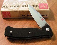 AL MAR New S2K SERE 2000 Liner Lock Design VG-10 Plain Edge Blade Knife/Knives