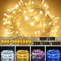 100-500 LED Fairy String Christmas Tree Party Lights Lamp Xmas Decor Waterproof