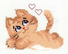 RIOLIS  HB132  Chat Kitty  Kit  Broderie  Point de Croix  Compté  facile