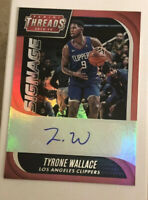 2018-19 Panini Threads Signage Signatures #58 Tyrone Wallace Auto LA Clippers