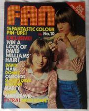FAN Magazine #10 David Bowie Cassidy Marc Bolan Slade New Seekers, Gary Glitter