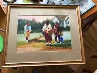 Original Jossy Lownes Utah/Arizona Artist Signed Watercolor. Title The 3 Sister.