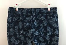 Liz Claiborne 16 Jeans Pants Embroidered Floral Blue Skinny Ankle Womens Spring