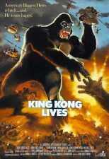 King Kong Lives affiche panneau métallique 01 A4 12 x 8 en Aluminium