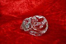 Clear Glass Cat Tea Light Small Candle Holder EUC