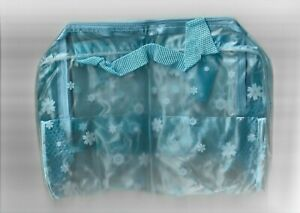 Clear Pale Blue Patterned Washbag Toiletry Bag Travel Accessory