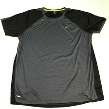 Unipro Shirt Mens XXL Gray Black Short Sleeve Casual Polyester Workout