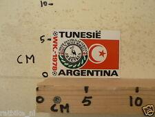 STICKER,DECAL WK ARGENTINA 1978 VOETBAL,SOCCER JH HENKES TUNESIE