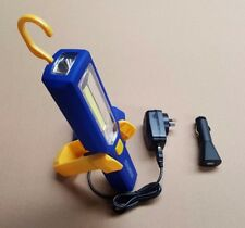 Lithium Ion WORK LIGHT & TORCH COB LED 240/12 VOLT RECHARGEABLE for CAR CAMPING