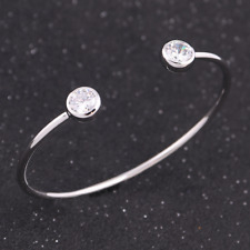 Fashion women lady open bright Rhinestone silver bracelets 1pcs