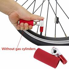 2 Pcs Compact Bike Bicycle Tire Air CO2 Inflator Pump Valve&Insulated Sleeve Set