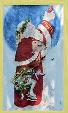 Fabric Vip Cranston Father Christmas Wall Hanging with Metallic Embellishment