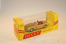 Dinky Toys 114 Triumph Spitfire gold very near mint in scarce USA box Superb