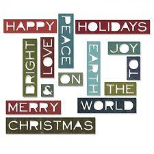 Sizzix Tim Holtz Thinlits Die Set 14PK Holiday Words #2: Thin 661601