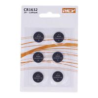 Pack de 6 Pilas Tipo Botón de Litio en Blister gran Calidad Modelo CR1632 3V b10