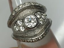 18ct White Gold Diamond Leo De Vroomen Boodle & Dunthorne Engagement Ring 1ct