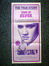 THIS IS ELVIS Rare Original 1980s Daybill Movie Poster Elvis Presley, Rhonda Lyn