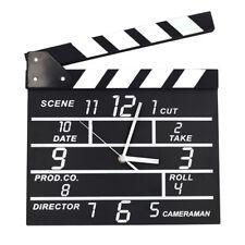 NEW Movie Clock Clap Clapper Clapperboard Board Film Action Scene Slate DryErase
