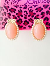 Betsey Johnson new Pink Peal Earrings