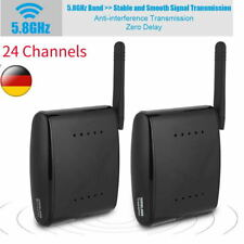 5.8 GHz Funk Audio Video Übertragung AV Sender & TV Empfänger  24 Kanäle HDMI~