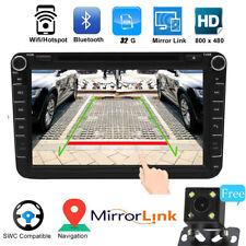8'' 2 DIN Car Stereo Radio DVD Player GPS SAT Nav SD bluetooth MP3 FM Camera UK