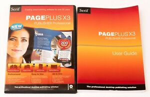 Serif Page Plus X3 desk top publishing software plus user guide