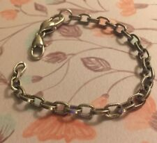 BRIGHTON Authentic Silver Add Charm BRACELET Excellent 7.5""