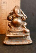 """18th c Hindu icon 'GANESH';  bronze;  1 3/4""""H or 4.4cm"""