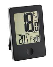 Funk Thermometer mit Innentemperatur und Außentemperatur Grad Uhr Uhrzeit TFA