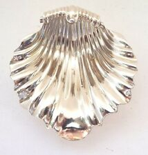 Shell Dish beurre Oyster solid sterling silver Rococo fine Georgian 1827