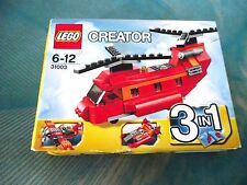Lego 31003 - 3 in 1 helicopter / plane / hovercraft - NEW