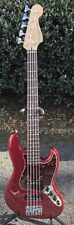 2012 Fender Deluxe Active Jazz Bass V W Red 5 String