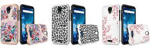 For Cricket Icon 2 U325AC (2020) Slim Design Lining Hybrid Case Phone Cover
