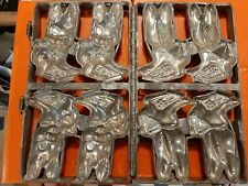 Antique Vintage Easter Bunny Hinged Chocolate Candy Easter Mold - Heavy Cast
