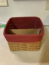 New Listing2004 Longaberger Tv Time Basket with divided Protector and liner