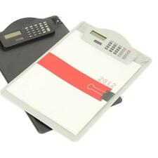 Plastic A4 Clipboard with Calculator Writing Pad Files Folders Document Holder