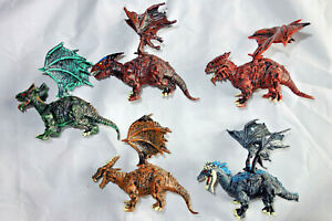 "Monsters Dragons, Fantasy Action Figures Serie, Set of 5 Toys, PVC, 2"", New"