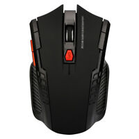 2.4Ghz Wireless Optical Gaming Mouse Mice& USB Receiver For PC Laptop Black