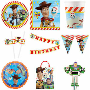 Toy Story Party Decoration Banners Bunting Table Covers Plates Napkins Cups