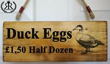 Duck Eggs For Sale Sign Personalised Plaque egg box fresh Free Range Large 43cm